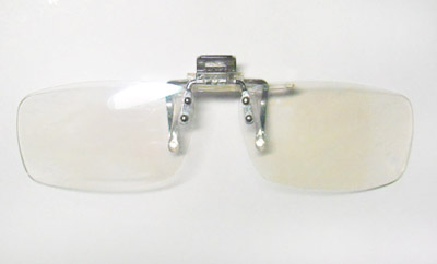 前のブルーライトカットメガネ