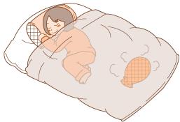 イラスト寝ている