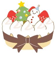 クリスマスケーキイラスト