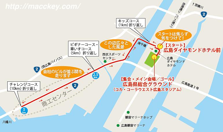 平和マラソン地図