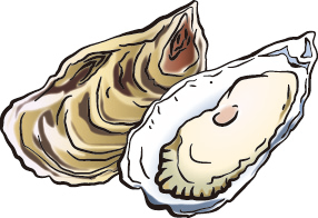 牡蠣が2つ