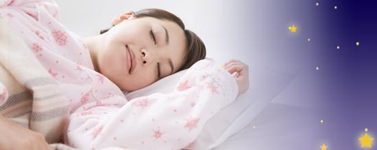 女性睡眠と夜