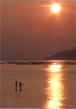 江田島の夕陽