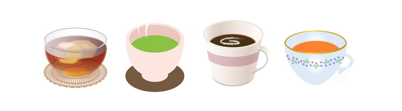 お茶コーヒー4種