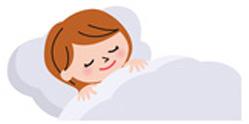 女性寝てるイラスト1